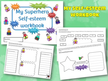 Superhero self esteem workbook