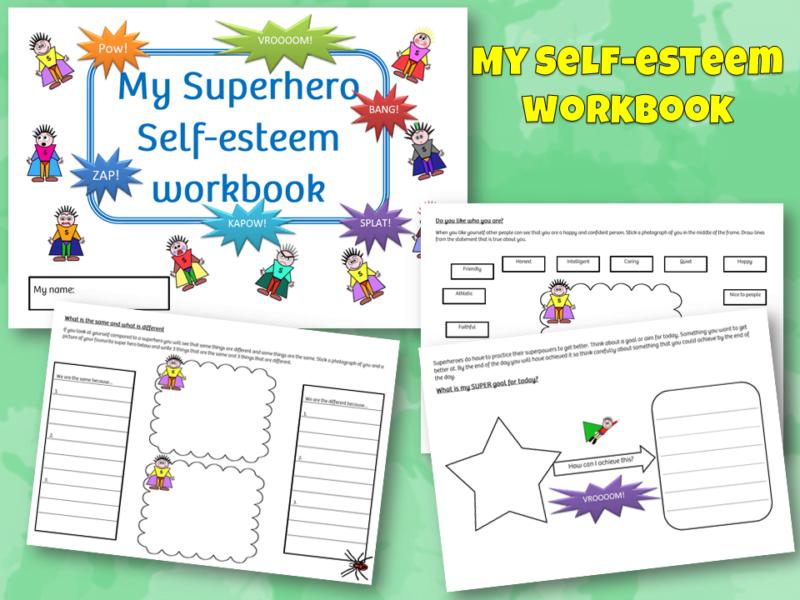 Superhero self esteem workbook