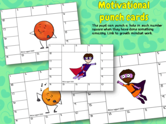 Motivational punch cards