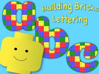 building brick lettering