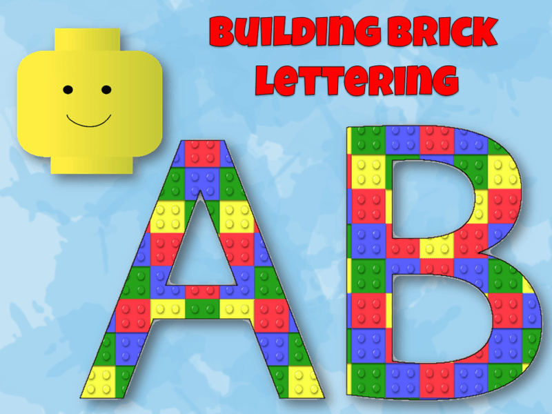 Building Brick Lettering for Display