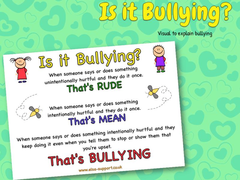 Bullying poster