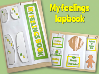 feelings lapbook