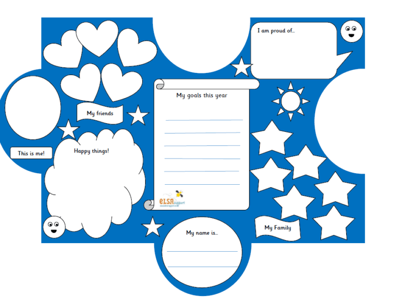 All about me jigsaw - transition activity