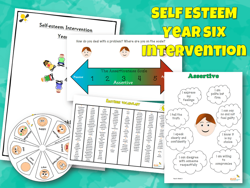 graphic regarding Self Esteem Test Printable known as Self-esteem intervention Yr 6 - Product or service 147 - ELSA Help