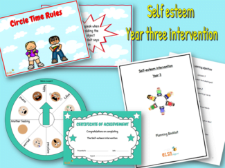 self esteem intervention year three