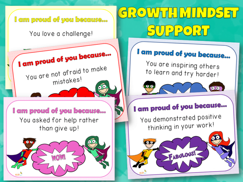 Growth Mindset Support Cards