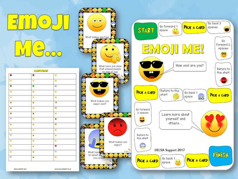 Emoji question cards