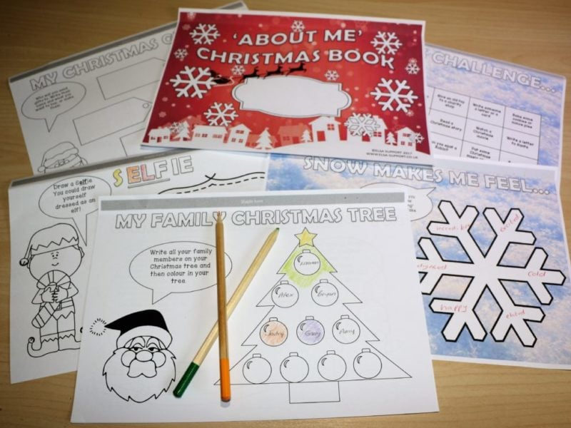 Christmas 'About me' activity booklet