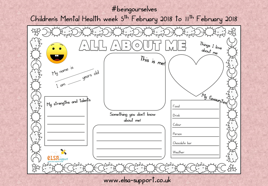All about me #beingourselves - Children's Mental health ...
