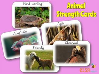 animal strength cards