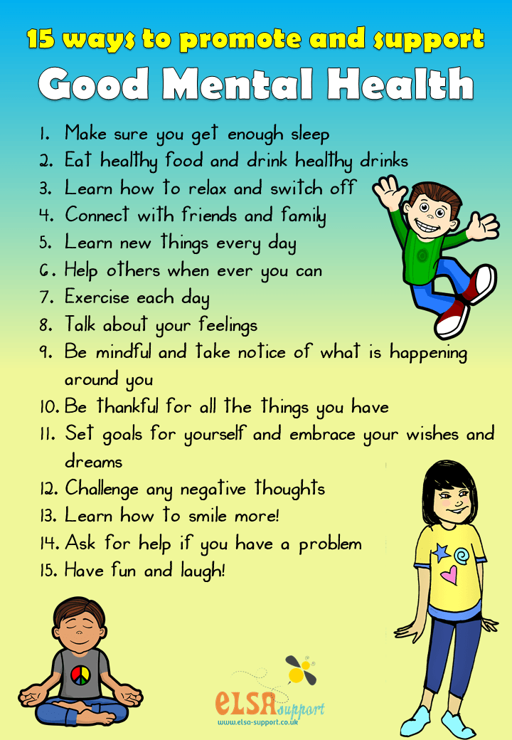 15 Ways to Good Mental Health - ELSA Support