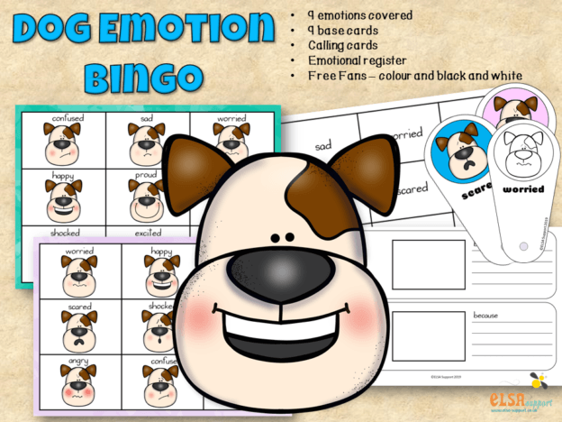 Dog Emotions Bingo