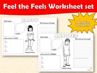 Feel the Feels Worksheet set