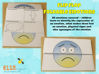flip Flop Foldable Emotions