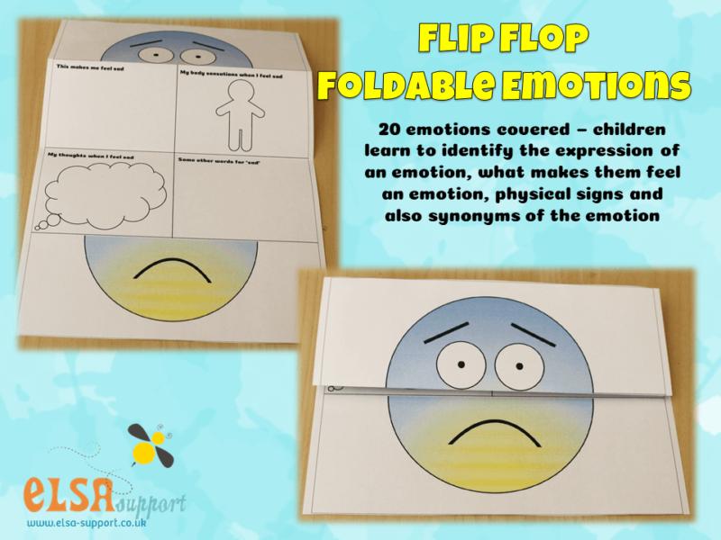 flip Flop Foldable Emotions