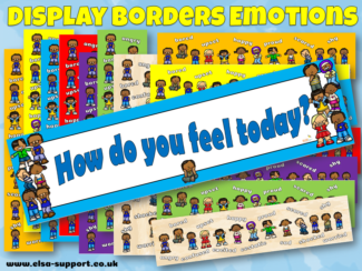 Multicultural Emotions Display border