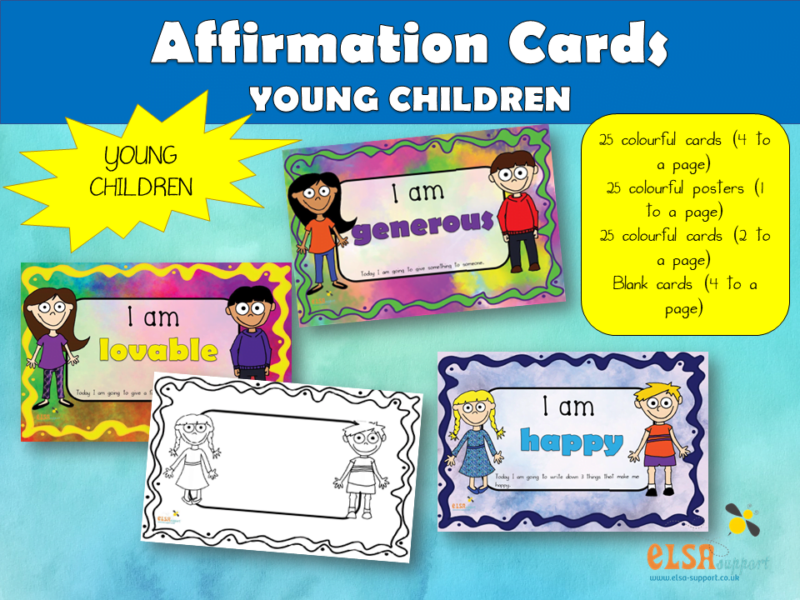 Affirmation Cards Young Children
