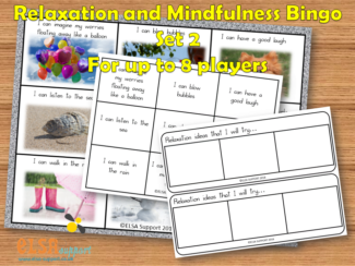 Relaxation Mindfulness Bingo set 2