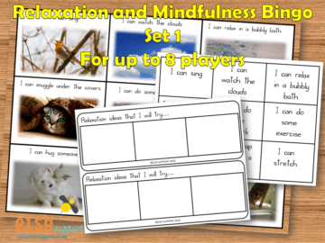 Relaxation Mindfulness Bingo Set 1