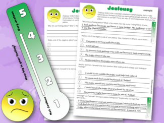 Jealousy Worksheet and Thermometer