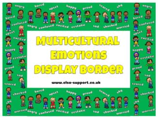 Multicultural Emotions Display Borders