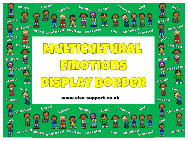 Multicultural Emotions Display Borders