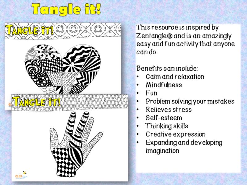 Tangle It patterns