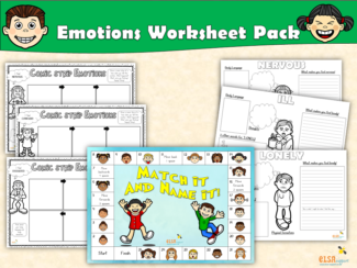 Emotions Worksheet Pack