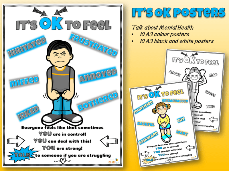 Its OK Mental Health Posters