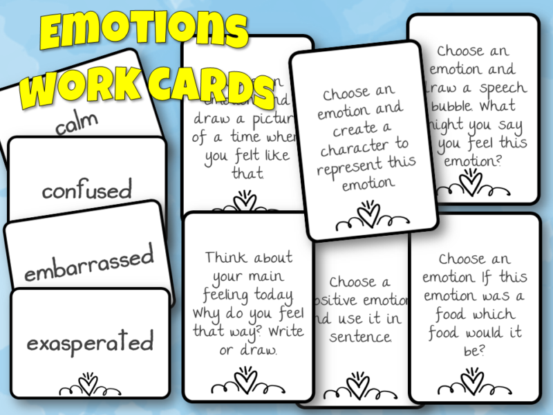 Emotion workcards - no frills