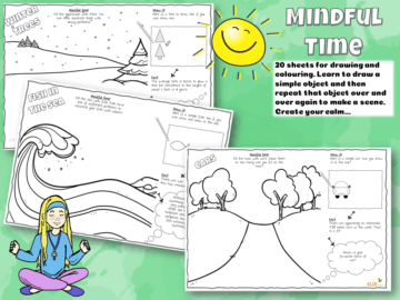 Mindful Time colouring sheets
