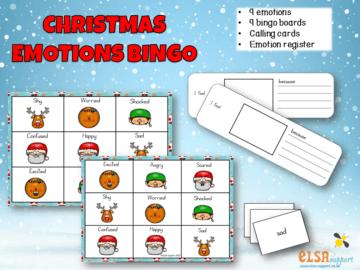 Christmas emotions bingo