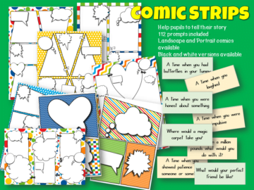 Comic strips for telling stories
