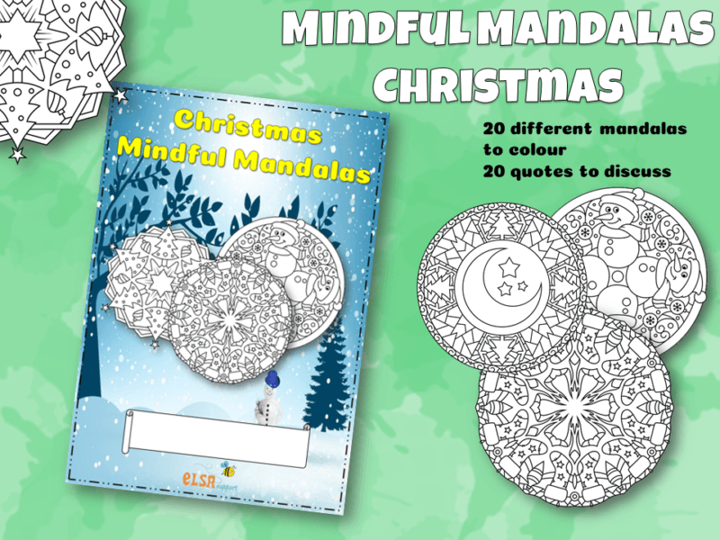 Christmas Mindful Mandala's