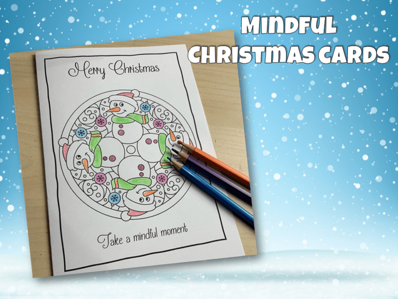 Christmas Cards Mindfulness colouring