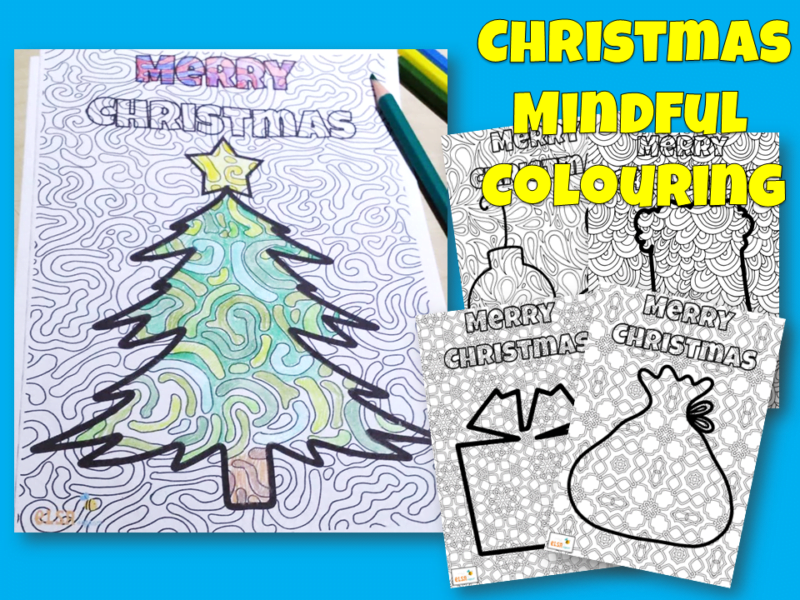 Christmas mindful colouring