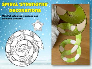 Christmas spiral decoration