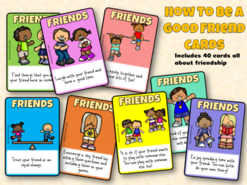 How to be a good friend cards