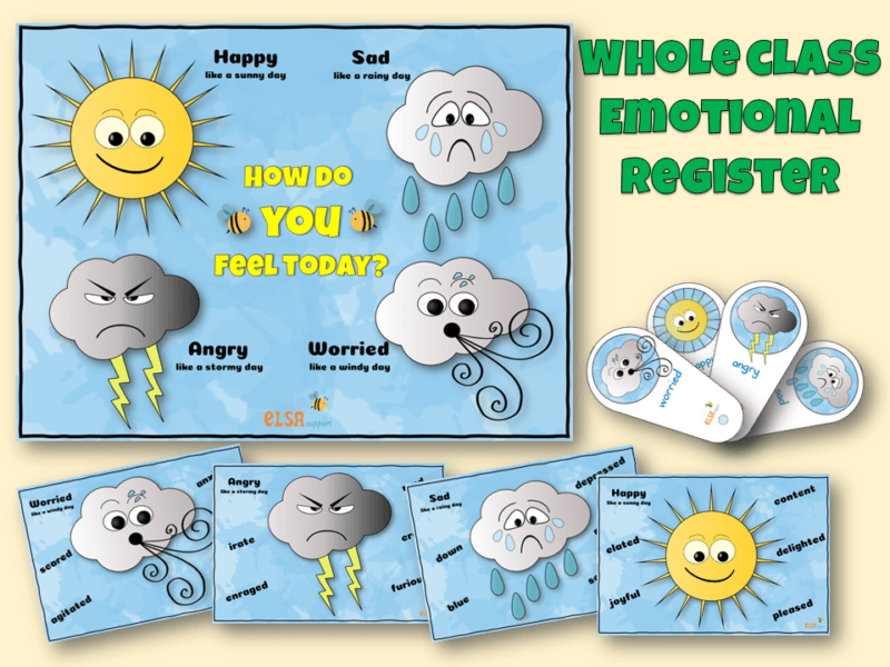whole class emotional register