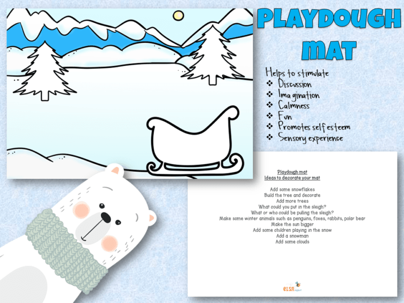 Christmas playdough mat