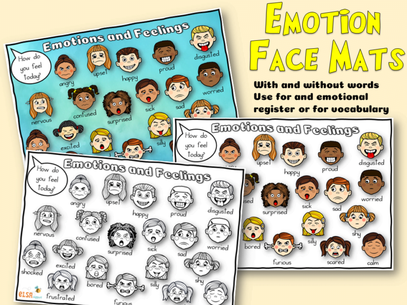 Emotion face mats