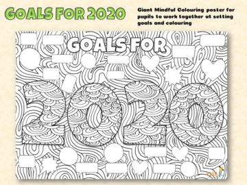 Goals Giant Mindful colouring Poster