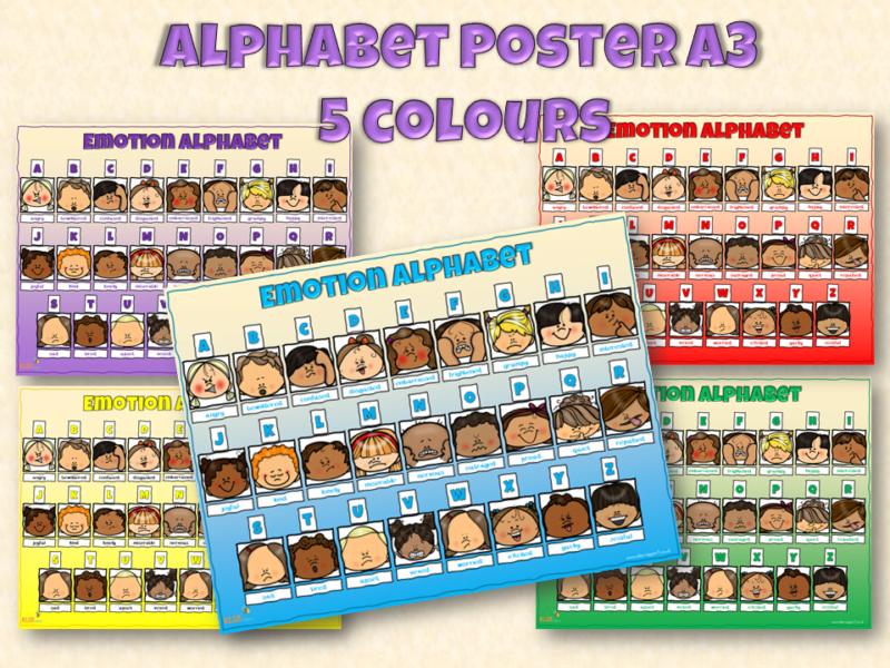 Alphabet emotion poster
