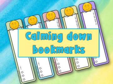 Calming down bookmarks