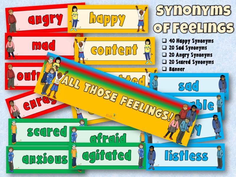 synonym emotion display words