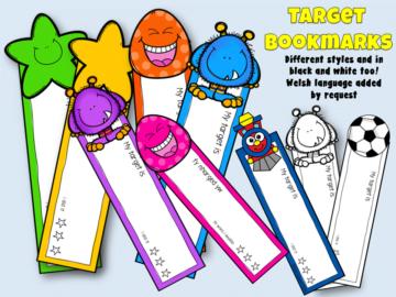 target setting bookmarks