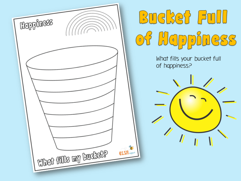 bucket full of happiness