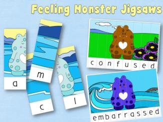 feeling colour monster jigsaws