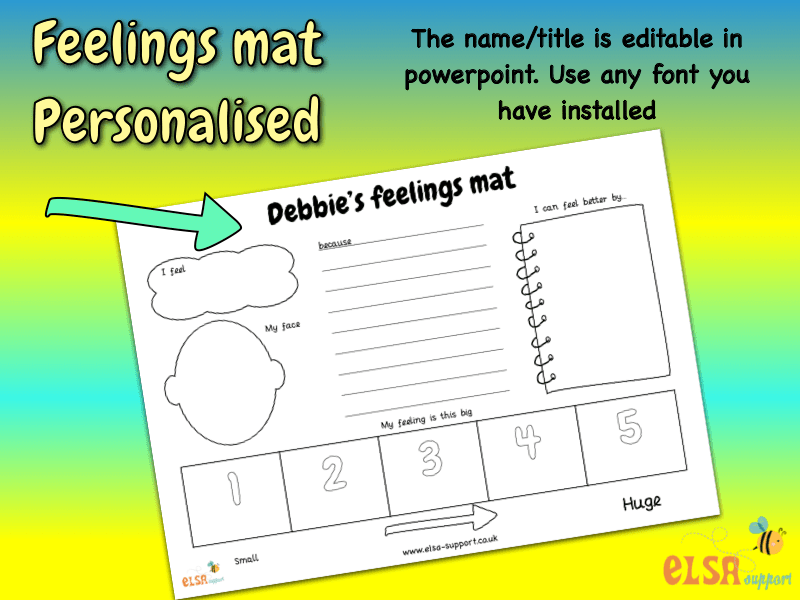 Personalised feelings mat